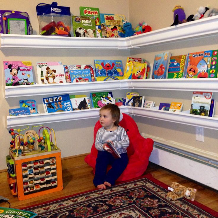Rain gutter book shelves. Way easier than I anticipated