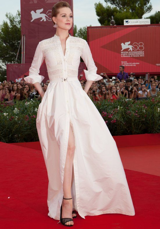 evan-rachel-wood-long-shirt-dress Alessandra Rich