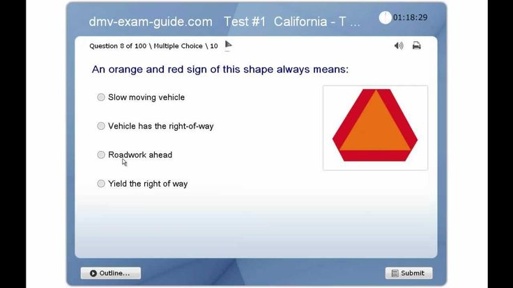 DMV California Driver Permit Test - Traffic Signs & Driving Rules - Practice Exam #1 (Part 1) - YouTube