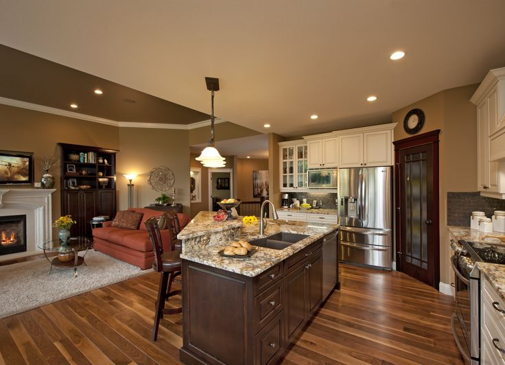 27 best images about kitchen family room combo on for Kitchen family room combo floor plans
