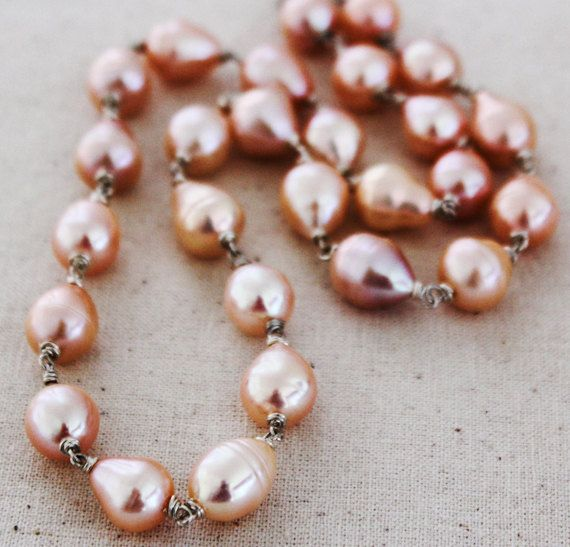 Pink Baroque Pearl Necklace  Artisan Pearl Jewelry by karioi, $330.00 http://etsy.com/shop/karioi