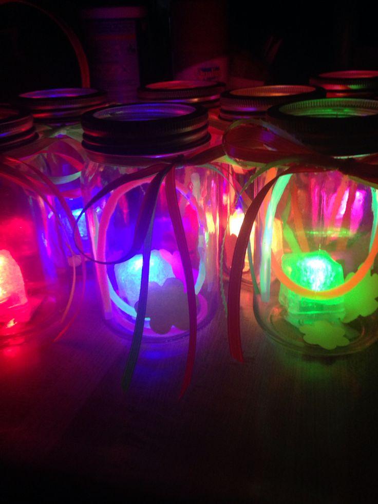 DIY glow in the dark centerpieces under $10.00
