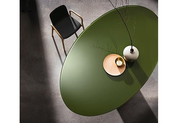 Totem:olive green dining table