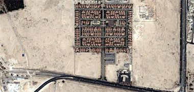 A residential development on the Rayyan Road – image acqired from Google maps