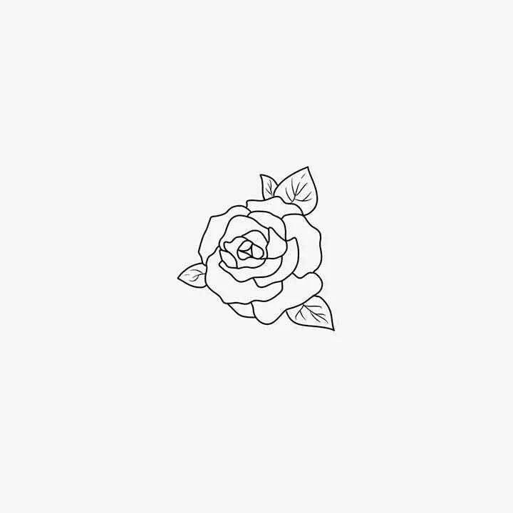мини картинки для тату роза также