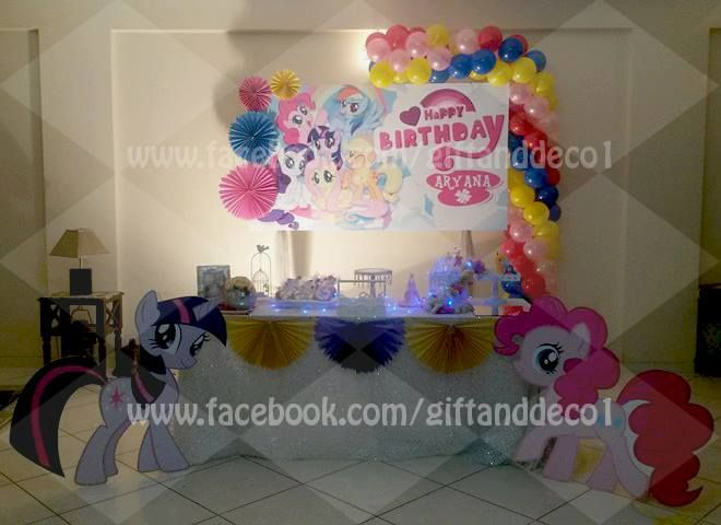 #MyLittlePony #Theme #Decoration #Event #Birthday #balloons #cutouts #rosettes