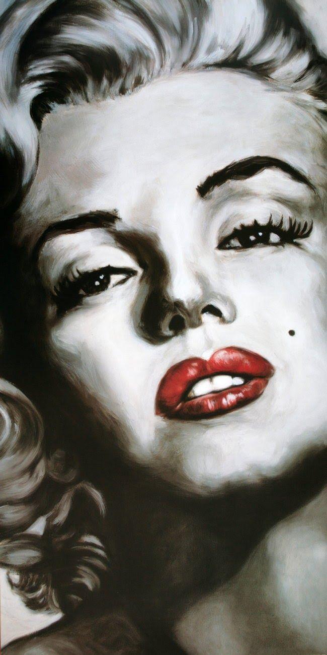 marilyn monroe   Glamorous Girl: Marilyn Monroe Painting : )