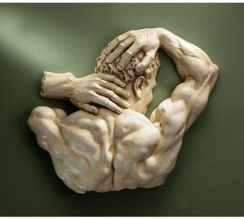 """15"""" Classic Theseus Male Physique Torso Sculpture Statue Wall Décor"""
