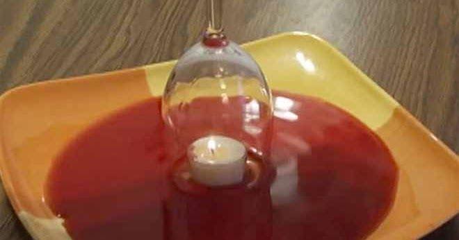 Απίθανο τρικ με ένα κεράκι και ένα ποτήρι κρασιού [Βίντεο]