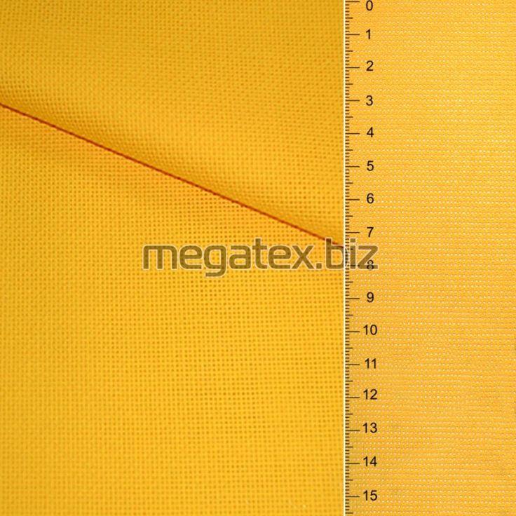 Ткань для вышивки желтая мелкие ячейки ш.150 см.