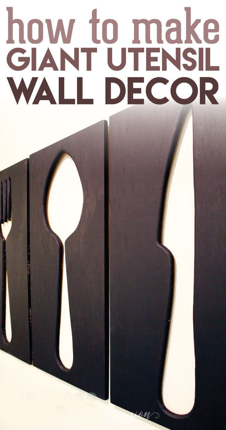 376 best artwork images on pinterest diy wall decor diy and create your own giant utensil wall art for your dining room or kitchen this project