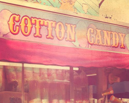 Vintage Carnival Photography, Cotton Candy, signage, circus art, pink, nursery decor, retro, pastels, vintage circus, vintage sign, fPOE on Etsy, $30.00