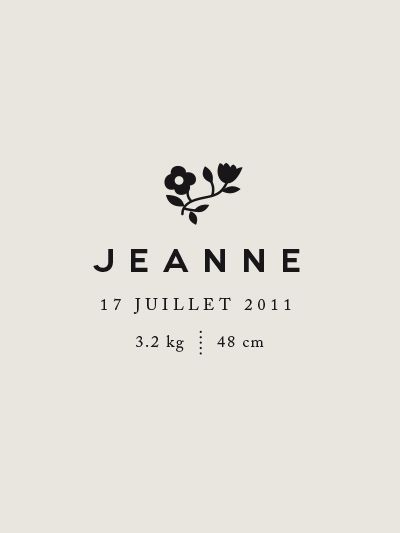 Jeanne Juillet logo. Nice type combination and I love that Jeanne is bold.