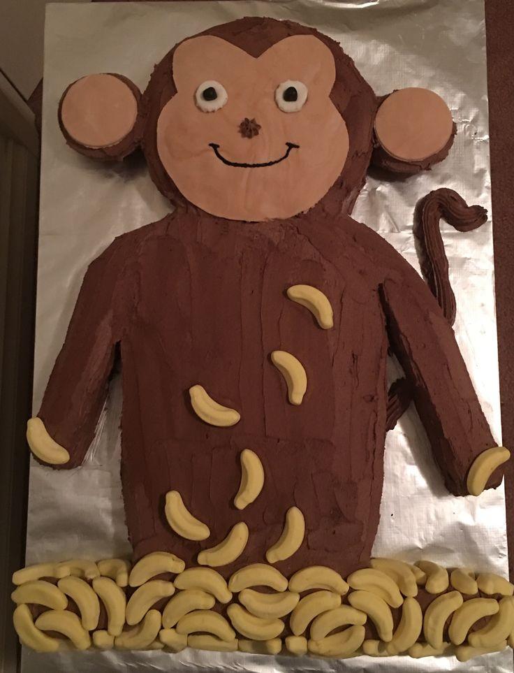 Monkey cake I made for my niece's 1st Birthday