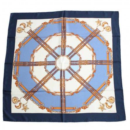 Foulard Astri cornice blu