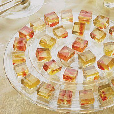 Dessert Wine Geles with Citrus Fruit