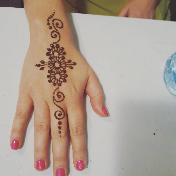 "42 Likes, 2 Comments - Himavarsha.volam (@henna_boutique_brisbane) on Instagram: ""How cute is this simple henna tattoo..  Find me at @eatstreet in laneway every weekend.…"""