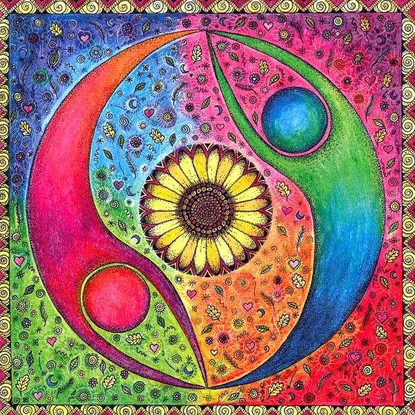 Yin Yang card from the Sheffield Yoga School