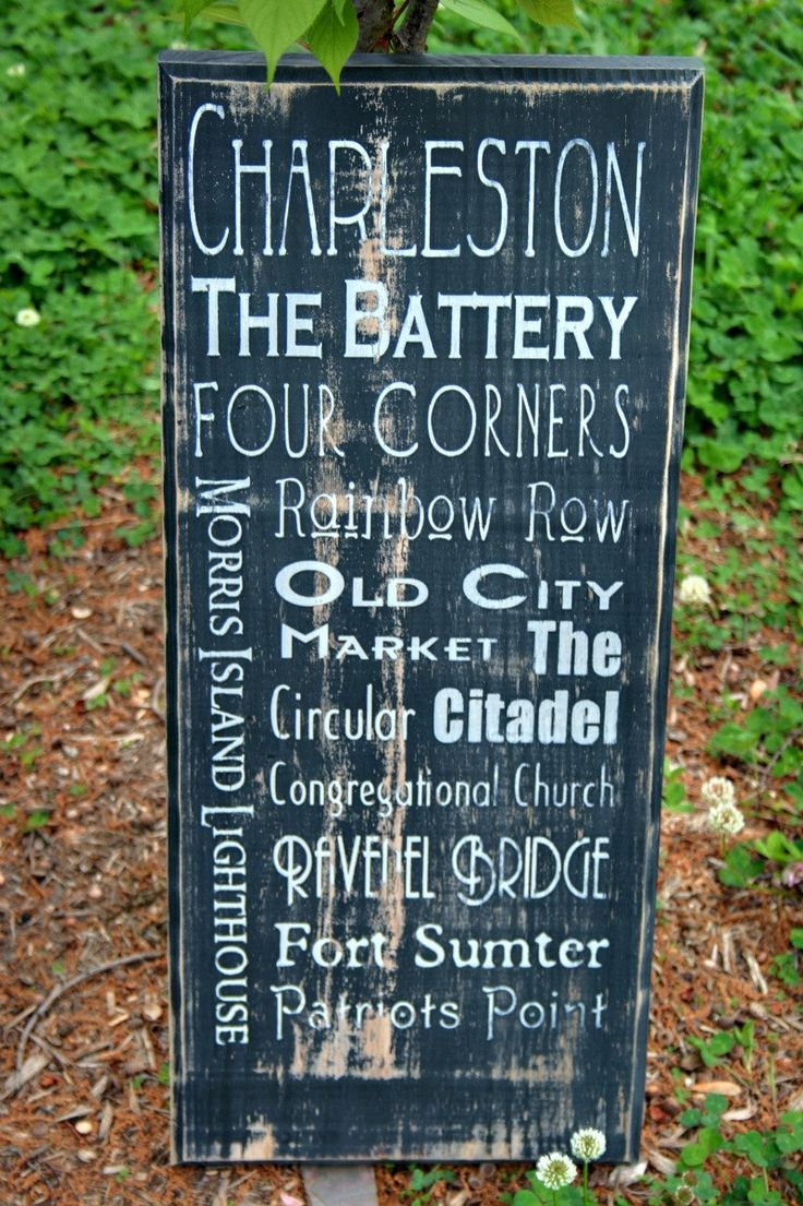 Charleston South Carolina Typographical Art by ThatMakesAStatement, $75.00