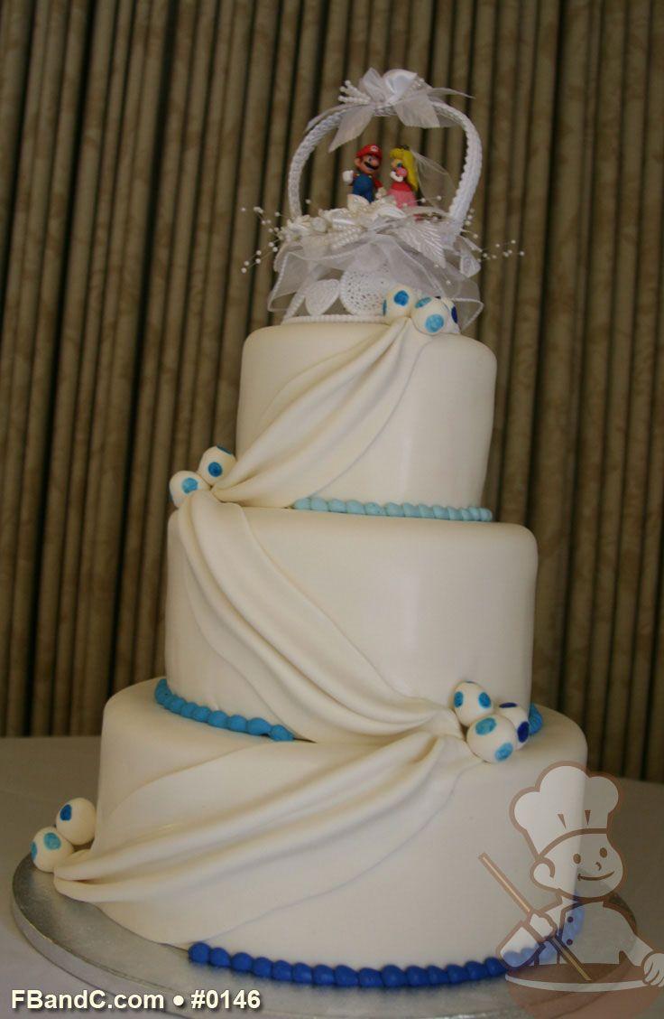 Wedding Cakes Fondant Drapes
