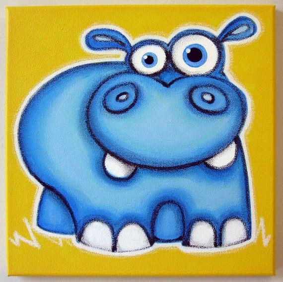 Gros hippopotame avec un air confus. mesure 12 « x 12 x 3/4 »    Il est mignon ? bien sûr dégayer nimporte quelle pièce de la pépinière ou enfants
