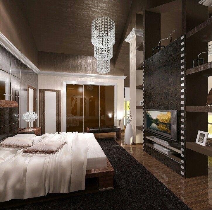 Проект спальни для молодого мужчины. Архитектор ФРОЛОВА ЛЮДМИЛА