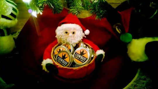 Santa's little Caffeine Helper.  Coffee, Cowboy Coffee Chew