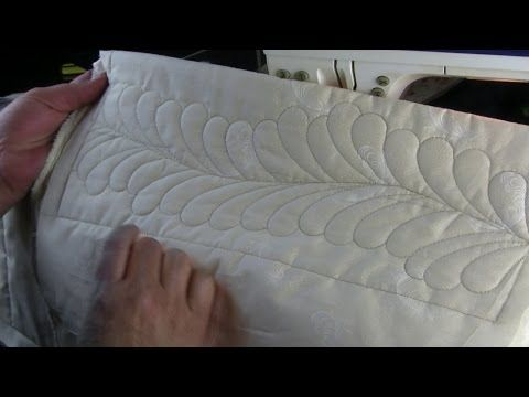 westalee ruler foot: Quilting Feathers on a Domestic Machine with templates - YouTube
