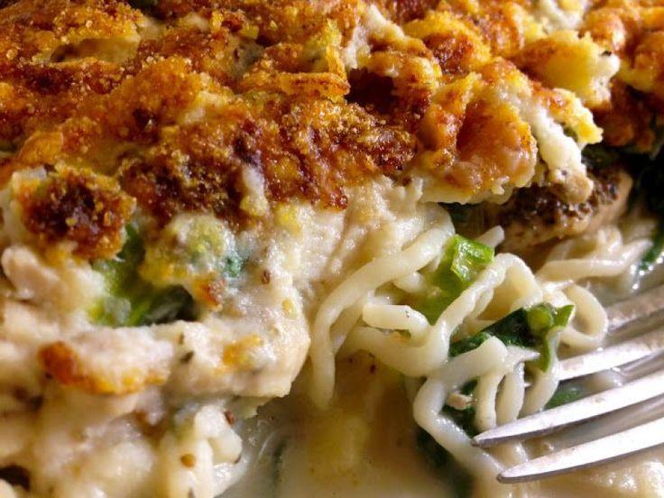Slendier Spaghetti Bake with Chicken