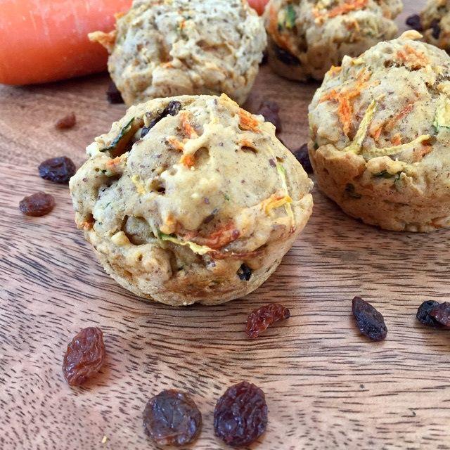 Vegan Zuchinni Carrot Muffins  veganleeks.com
