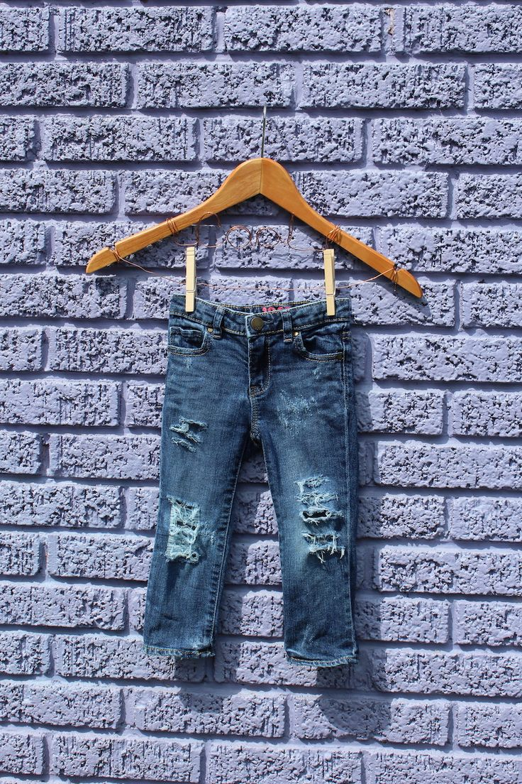 Infant Jeans 2 Years Distressed Jeans Girls Ripped Jeans Trendy Kids Clothes Girls Jeans Edgy Kids Clothes Ripped Baby Jeans Ripped by RunnergirlCreations on Etsy