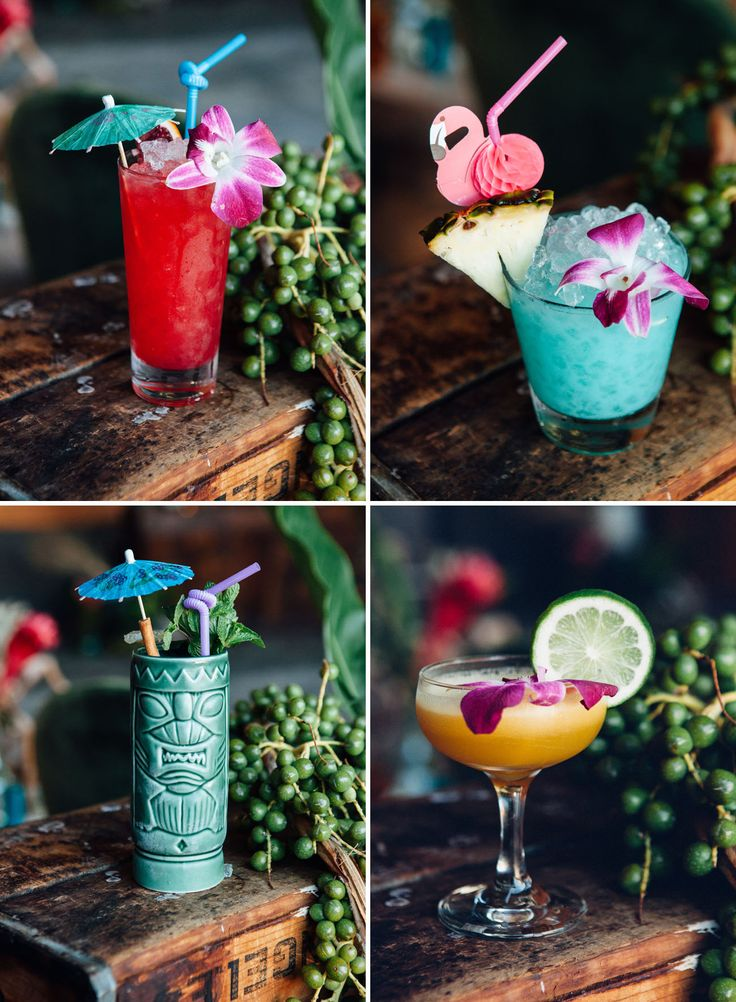 Tiki cocktails made from fresh, quality ingredients