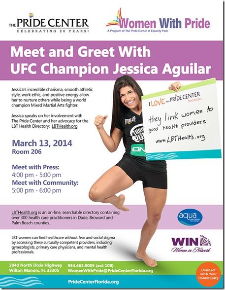 Martial arts champion Jessica Aguilar to speak Thursday at Pride Center about LBT health issues