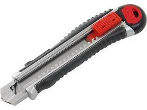 Nůž  ulamovací kovový s kovovou výztuhou, 18mm, 4ks náhradních břitů