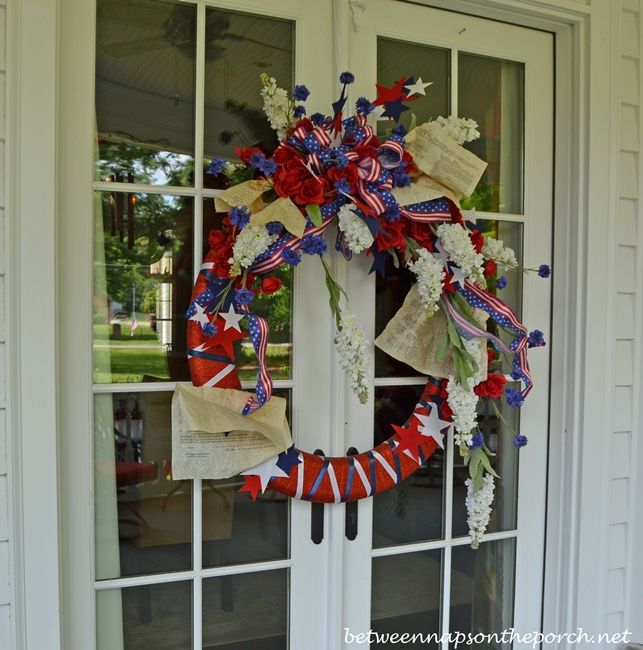 4th of July Wreath/minus the music pages