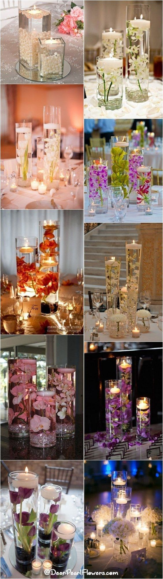 centerpieces for wedding receptions with candles%0A    Impossibly Romantic Floating Wedding Centerpieces
