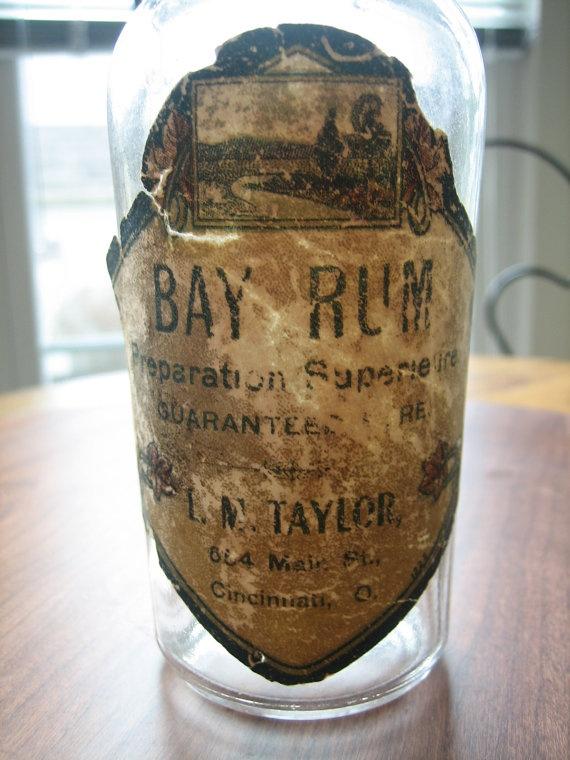 Antique 1906 Barber Shop Bay Rum Bottle From by BGMvintage on Etsy, $12.00