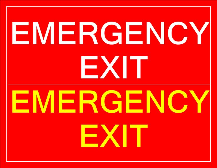 Printable Emergency Exit sign - Download this free printable Emergency Exit sign if you need to inform people in your building about the Emergency Exit location n case of an emergency.