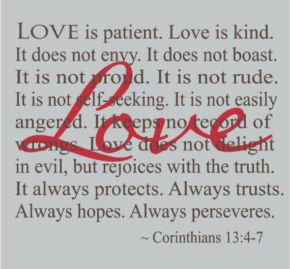 Wedding Reading Love Is Patient: 36 Best Images About 1 Corinthians 13:4-7 On Pinterest