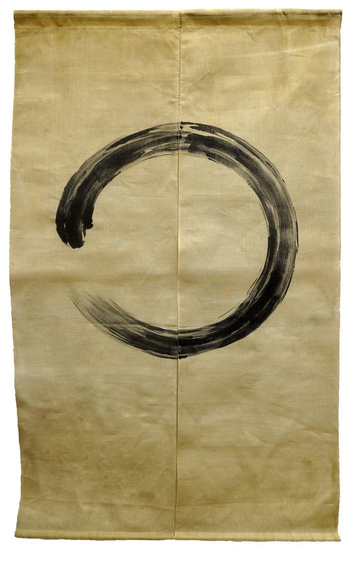 T-Trove Asian Decor - Tan Enso Circle Noren Curtain, $59.00…