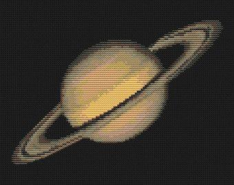 Venus Cross Stitch Pattern PDF Planet Solar by EasyStitchForFun