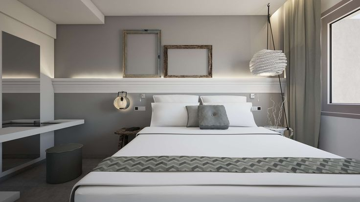 Nisos Junior Suite - Bedroom, Elakati Luxury Boutique Hotel, Rhodes , Greece