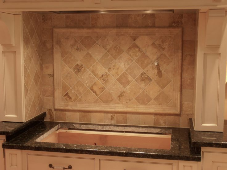 Travertine Stone Backsplash : Best tile backsplashes images on pinterest kitchens