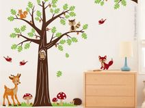 Beautiful Wandtattoo Kinderzimmer Baum Waldwald Tiere