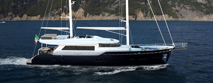 26m Aluminium Motor Sailer Yacht Boating