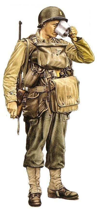 WW2 US infantry solider