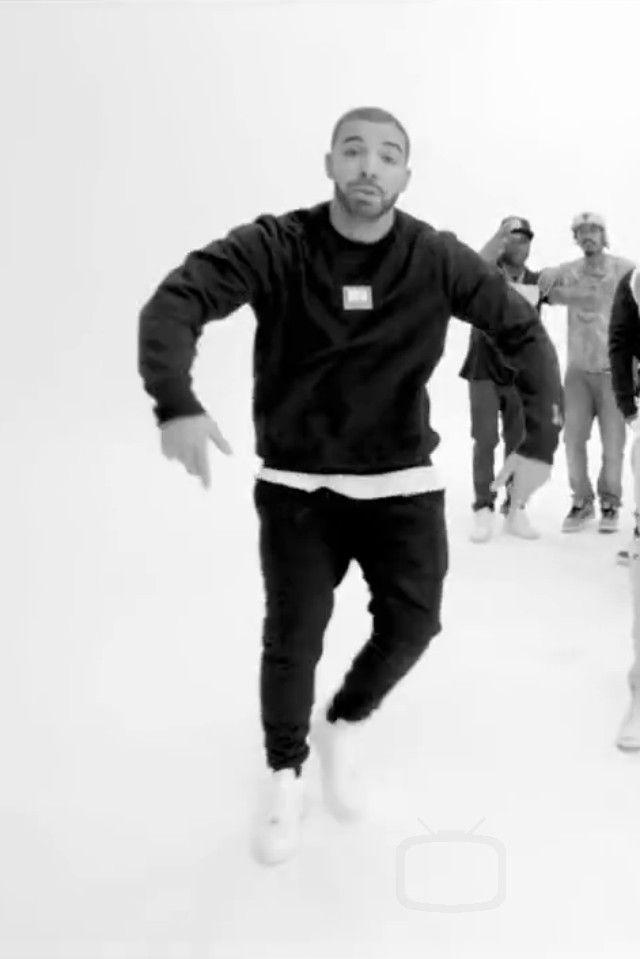 Drake wearing  Nike Air Force 1, October's Very Own OVO Sound Sweater, October's Very Own OVO Sound Sweatpants