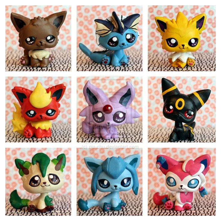 Lps Customs | New Eeveelutions LPS customs! by pia-chu
