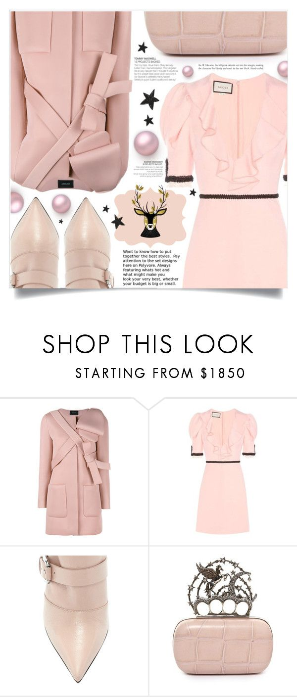 """""""Oh deer!"""" by dolly-valkyrie ❤ liked on Polyvore featuring Raf Simons, Gucci, Elora and Alexander McQueen"""