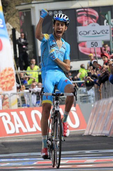 Giro d'Italia 2014: Cronoscalata a Quintana, Fabio Aru è secondo